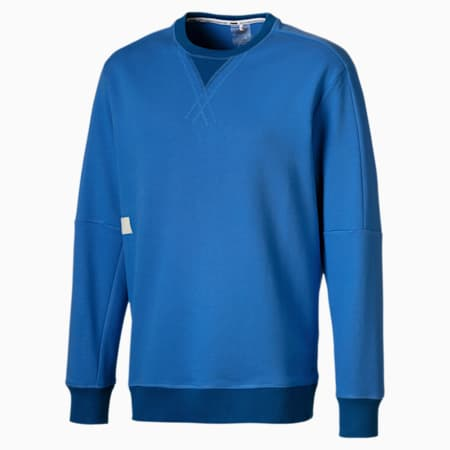 Jump Hook Crew Men's Basketball Sweater, Palace Blue, small