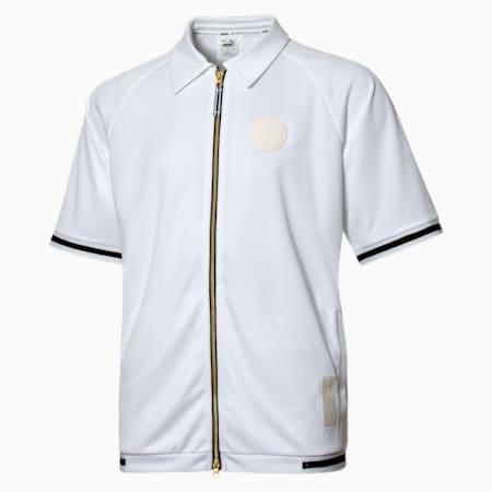 Clutch Shooting Short Sleeve Men's Shirt, Puma White, small-SEA