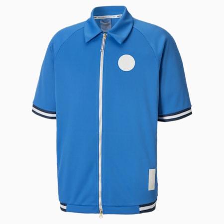 Clutch Shooting Short Sleeve Men's Shirt, Palace Blue, small-SEA