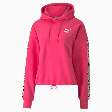 Classics Women's Cropped Hoodie, Glowing Pink, small