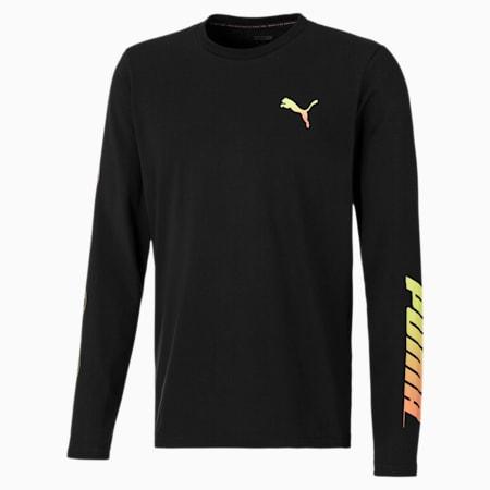 T-Shirt à manches longues XBU Neon Graphic pour homme, Puma Black, small