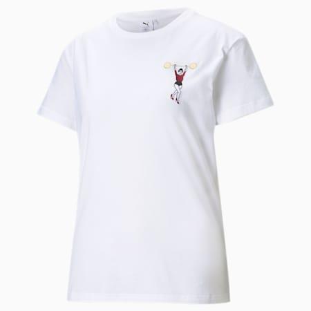 T-Shirt décontracté PUMA x CHARLOTTE OLYMPIA pour femme, Puma White, small