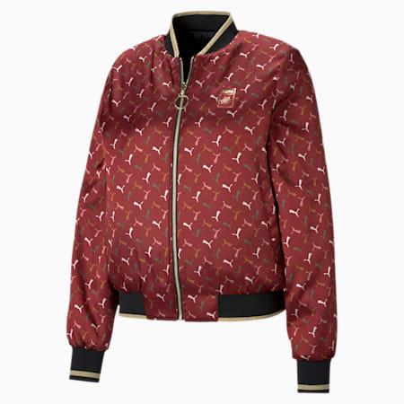 PUMA x CHARLOTTE OLYMPIA Women's Reversible Bomber Jacket, Puma Black, small