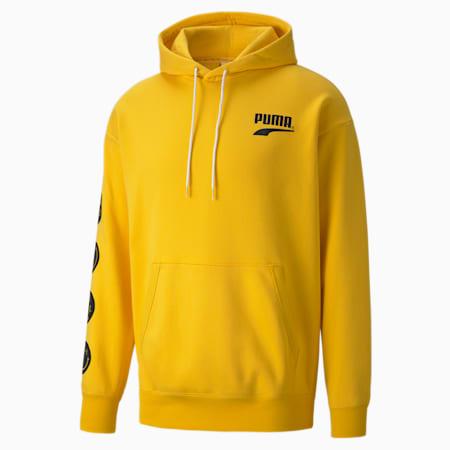 푸마 클럽 후드 티/PUMA Club Hoodie FL, Spectra Yellow, small-KOR