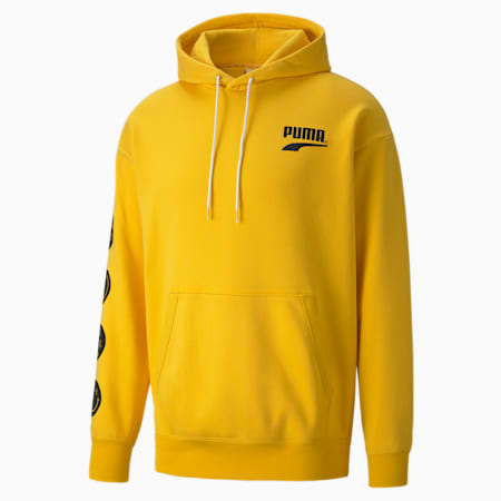 PUMA Club Relaxed Fit Unisex Relaxed Hoodie, Spectra Yellow, small-IND