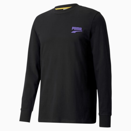 PUMA Club Men's Long Sleeve Tee, Puma Black, small