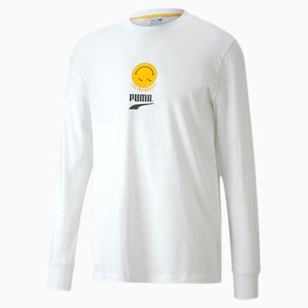 Club Long Sleeve Tee, Puma White, small-SEA