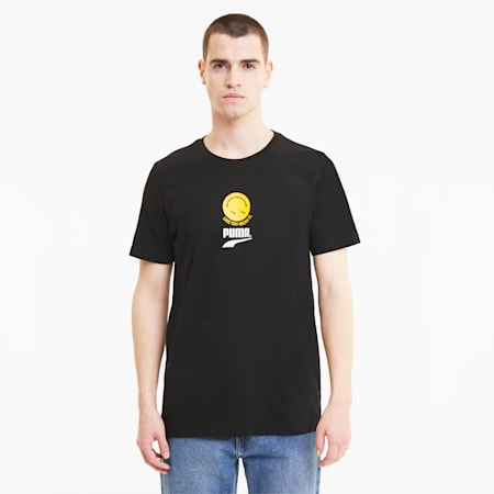 Club Graphic Crew Neck T-Shirt, Puma Black, small-IND
