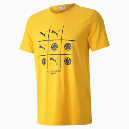 Club Graphic Crew Neck T-Shirt, Spectra Yellow, small-IND