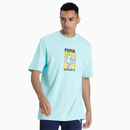 Downtown Graphic Men's T-Shirt, ARUBA BLUE, small-IND