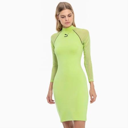 Sukienka etui z długim rękawem Tech Clash, Sharp Green, small