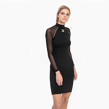 Sukienka etui z długim rękawem Tech Clash, Puma Black, small