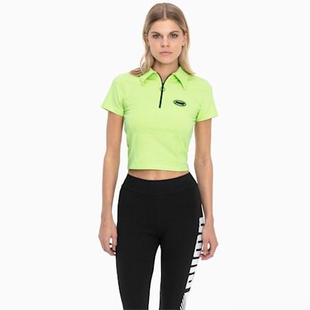 Tech Clash Contour Women's Top, Sharp Green, small