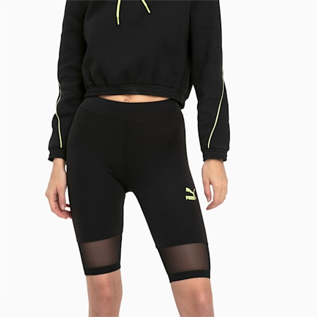 Tech Clash Women's Cycling Shorts, Puma Black, small