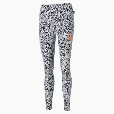 PUMA x MR DOODLE Women's Leggings, Puma Black-AOP, small-SEA