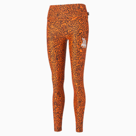 PUMA x MR DOODLE Women's Leggings, Dragon Fire-AOP, small