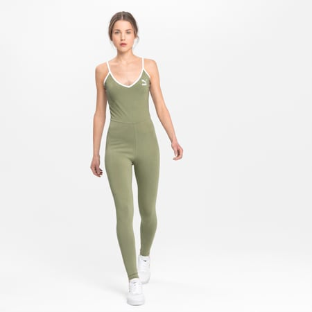 Spaghetti Women's Unitard, Oil Green, small