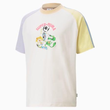 PUMA x KIDSUPER Colourblock Herren T-Shirt, Whisper White, small