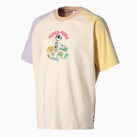 PUMA x KIDSUPER STUDIOS カラーブロック 半袖 Tシャツ, Whisper White, small-JPN