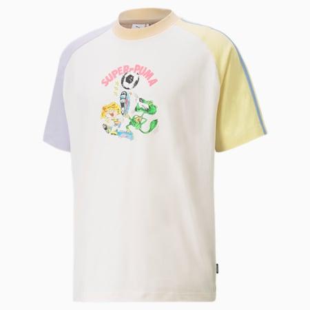 푸마 X 키드슈퍼 스튜디오 배색 반팔 티셔츠/PUMA x KS Colorblock Tee, Whisper White, small-KOR