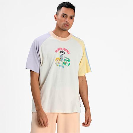 PUMA x KIDSUPER Colourblock Men's T-Shirt, Whisper White, small-IND