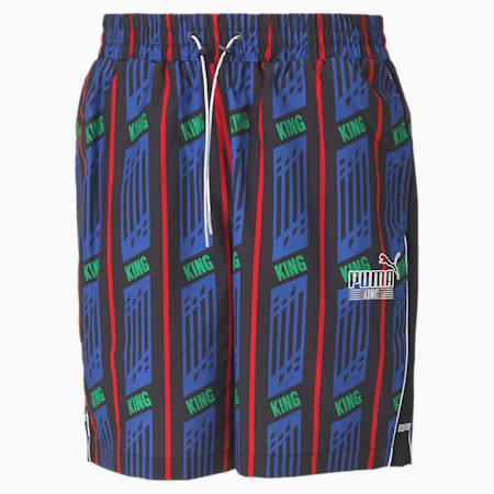 KING AOP Herren Shorts, Puma Black-AOP, small