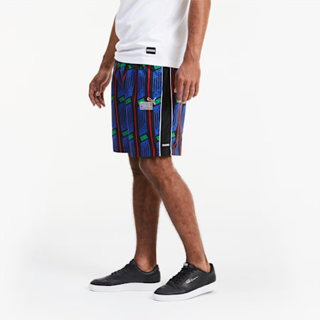 KING AOP Herren Shorts, Puma Black-AOP, small