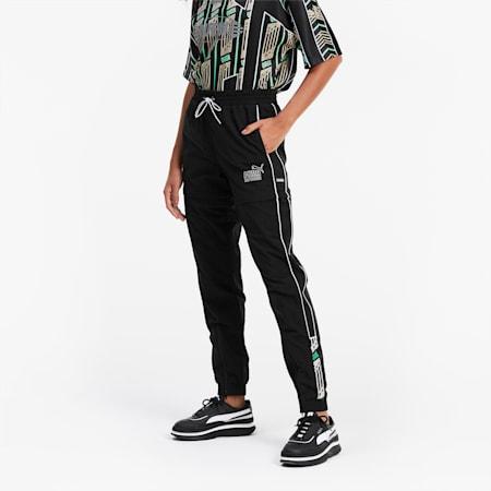 QUEEN Zip-off Women's Pants, Puma Black, small