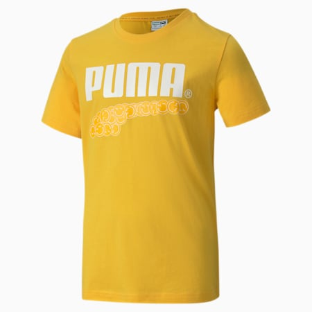 Club Graphic Youth Tee, Spectra Yellow, small-SEA