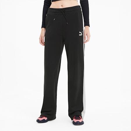 Classics Wide Leg Women's Pants, Puma Black, small-SEA
