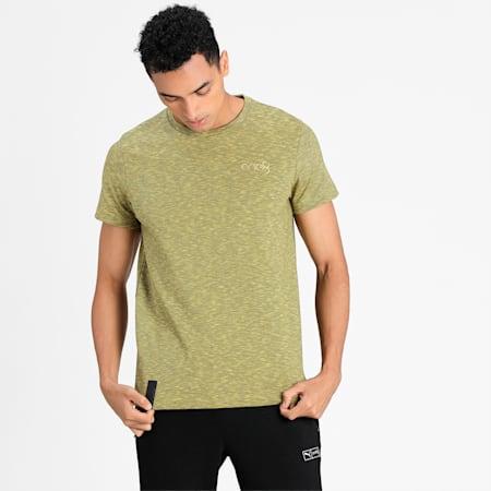 PUMA X one8 Ribbed T-shirt, Super Lemon-Puma Black, small-IND