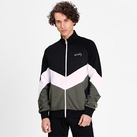 PUMA x Virat Kohli Men's Full-Zip Sweatshirt, Puma Black-Puma White-Thyme, small-IND