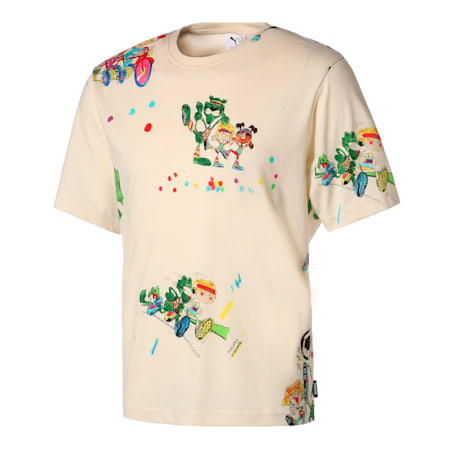 PUMA x KIDSUPER STUDIOS AOP 半袖 Tシャツ, Whisper White-AOP, small-JPN