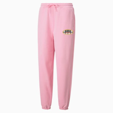 PUMA x VON DUTCH Damen Sweatpants, PRISM PINK, small