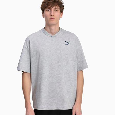 Herren T-Shirt, Light Gray Heather, small