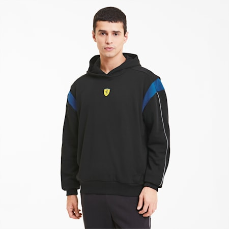Scuderia Ferrari Race Street Men's Hoodie, Puma Black, small