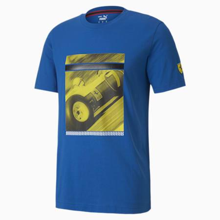 Scuderia Ferrari Race Street Men's Graphic Tee, Olympian Blue, small