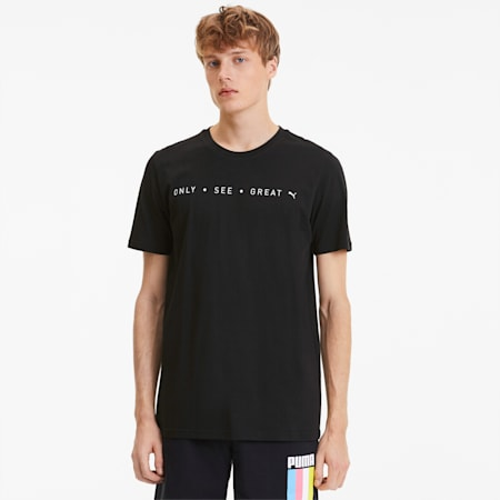 Only See Great Men's Tee, Cotton Black, small-SEA
