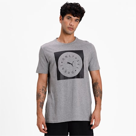 Only See Great Men's T-Shirt, Medium Gray Heather, small-IND