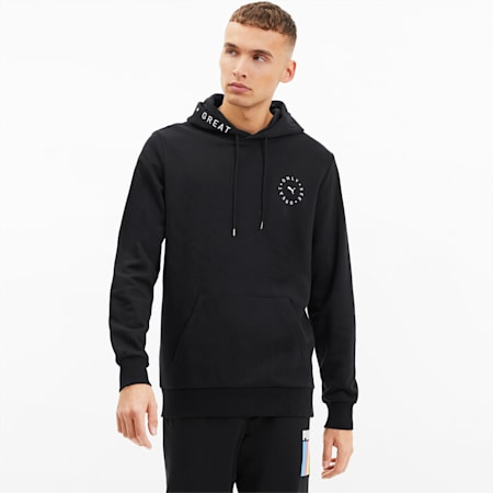 Only See Great Men's Hoodie, Cotton Black, small