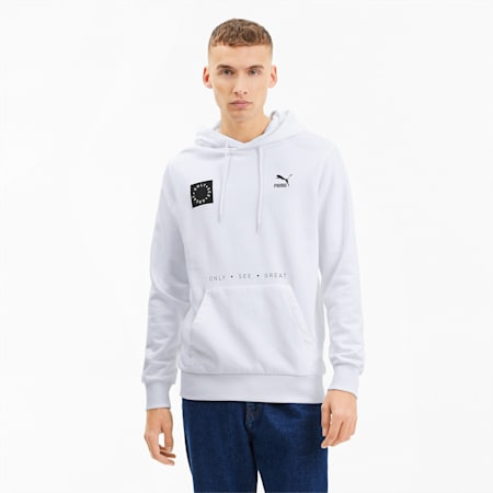 Only See Great Men's Hoodie, Puma White, small