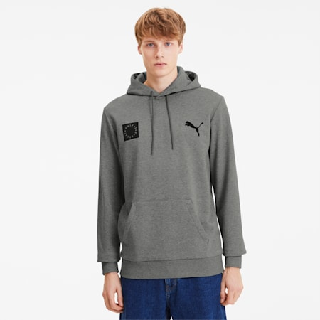Sweat à capuche Only See Great pour homme, Medium Gray Heather, small