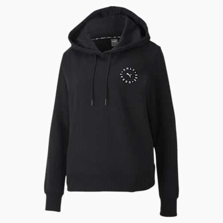 Sudadera con capucha para mujer OSG, Cotton Black, small