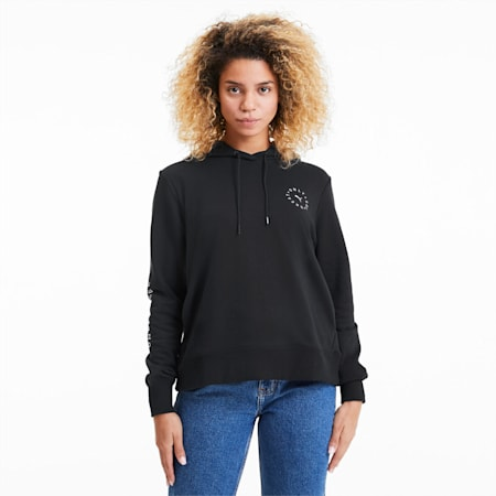 Only See Great Women's Hoodie, Cotton Black, small
