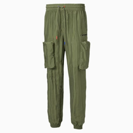 PUMA x ATTEMPT Men's Utility Pants, Olivine, small-SEA