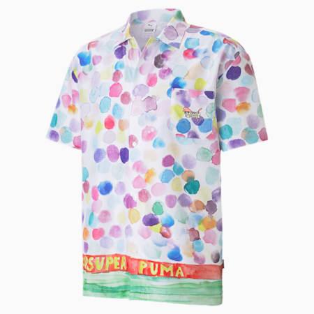 PUMA x KIDSUPER STUDIOS Men's AOP Shirt, Puma White-AOP, small