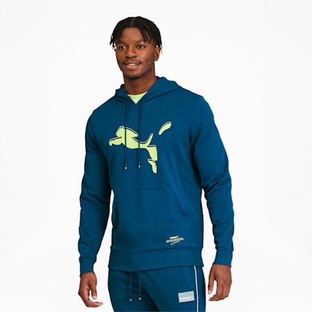 Avenir Men's Graphic Hoodie, Digi-blue, small