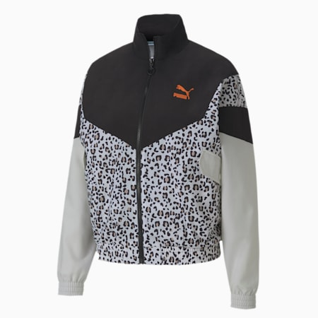 Tailored for Sport Women's Printed Track Jacket, Puma Black, small