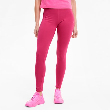 Evide Damen Baumwoll-Leggings, Glowing Pink, small