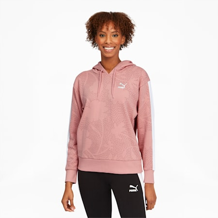 Classics Women's Graphic AOP Hoodie, Bridal Rose, small